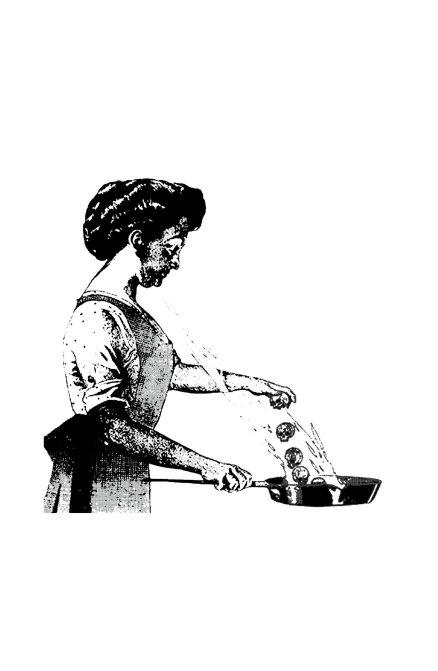 Page représentant Mary Typhoïde dans un journal du début vingtième siècle