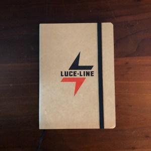 Luce Line logo notebook