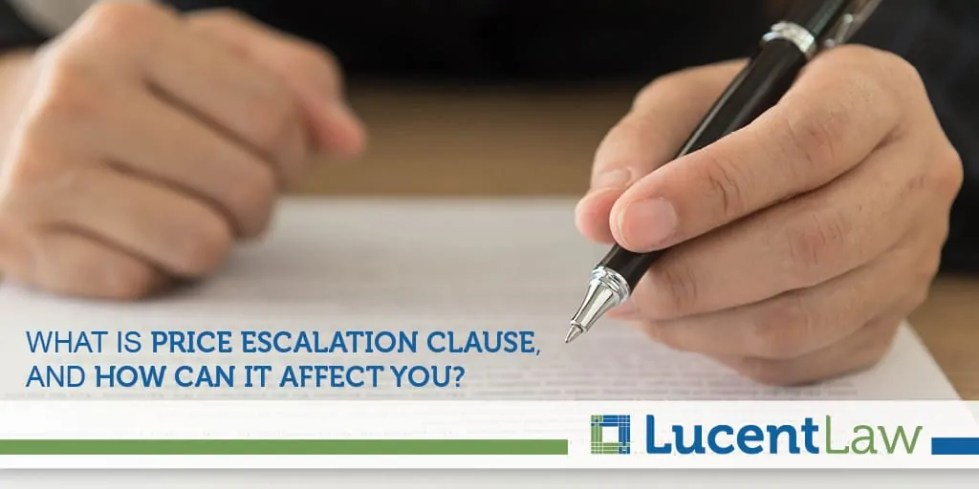 Price Escalation Clauses In Residential Purchase Offers