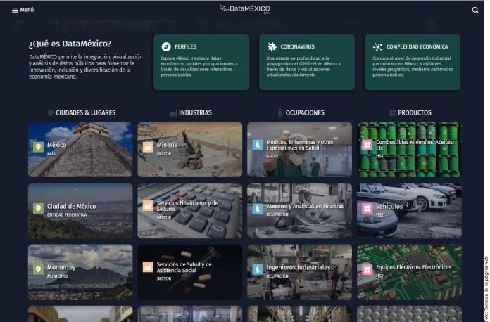 Presentan Data México; la plataforma de información socioeconómica
