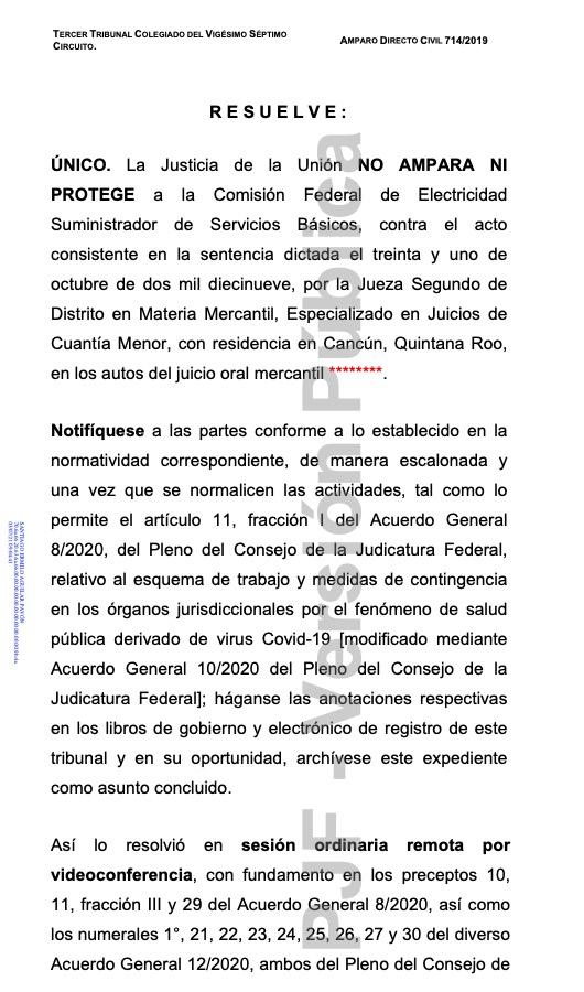 Ordenan jueces a CFE devolver cobros ilegales