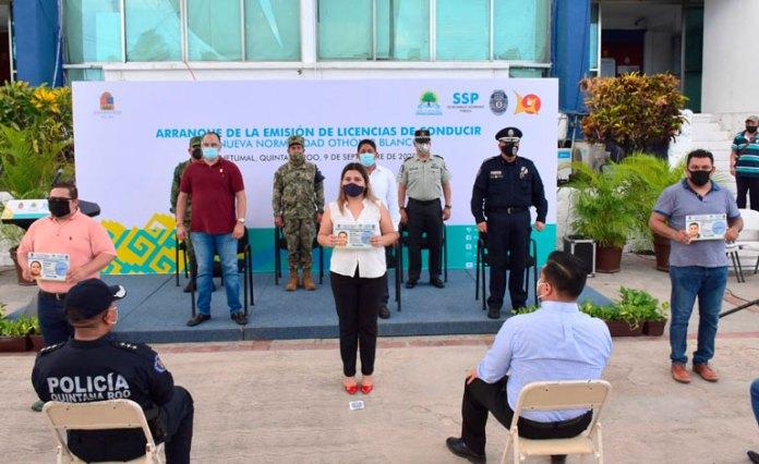Toma SSP estatal control de licencias en Othón P. Blanco