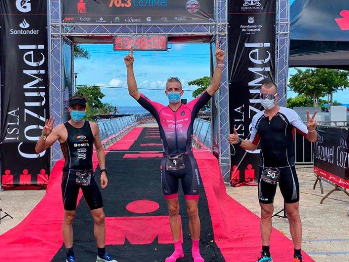 Termina Ironman 70.3 Cozumel con sana distancia