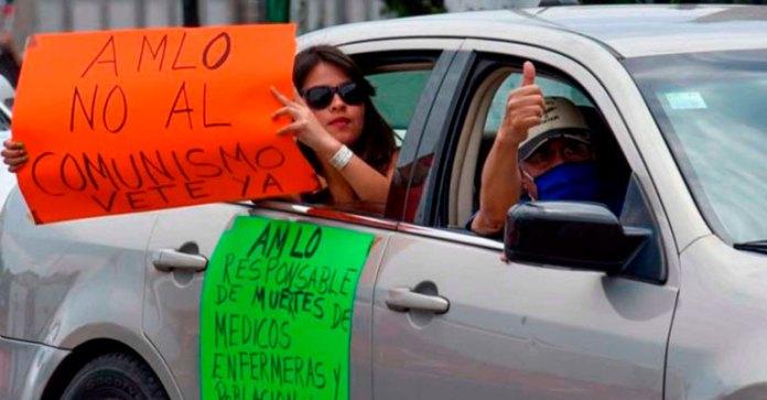 Protestas huecas e inútiles contra el presidente López Obrador.