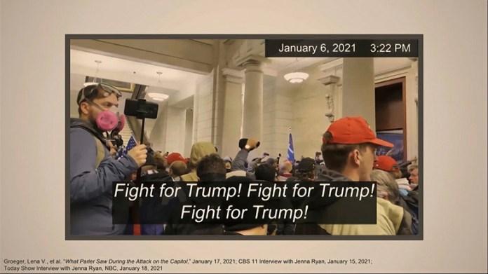 Muestran demócratas evidencia en juicio contra Trump