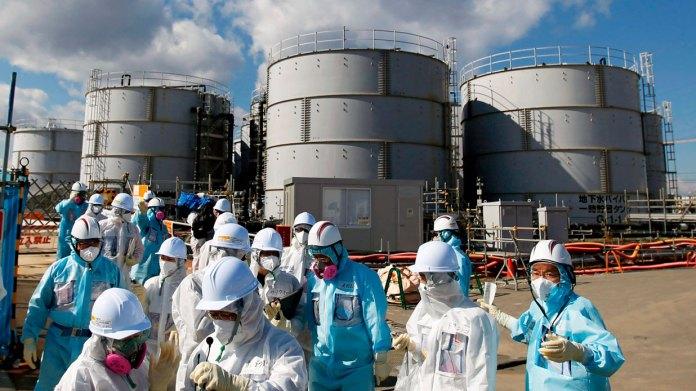 Verterán en Japón agua contaminada
