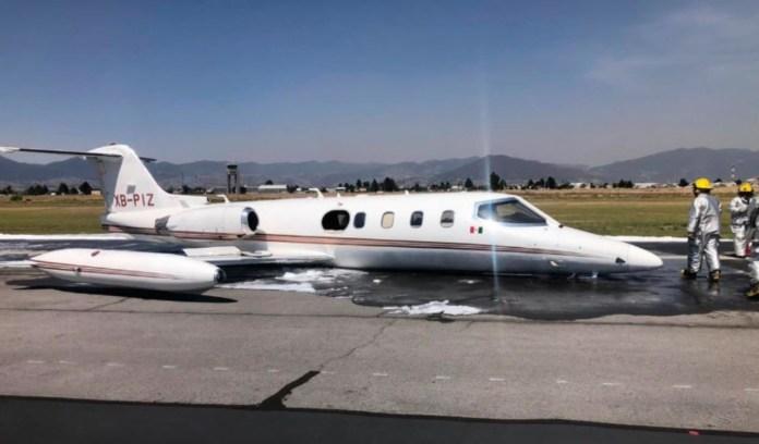 Aterriza de emergencia aeronave en Aeropuerto de Toluca