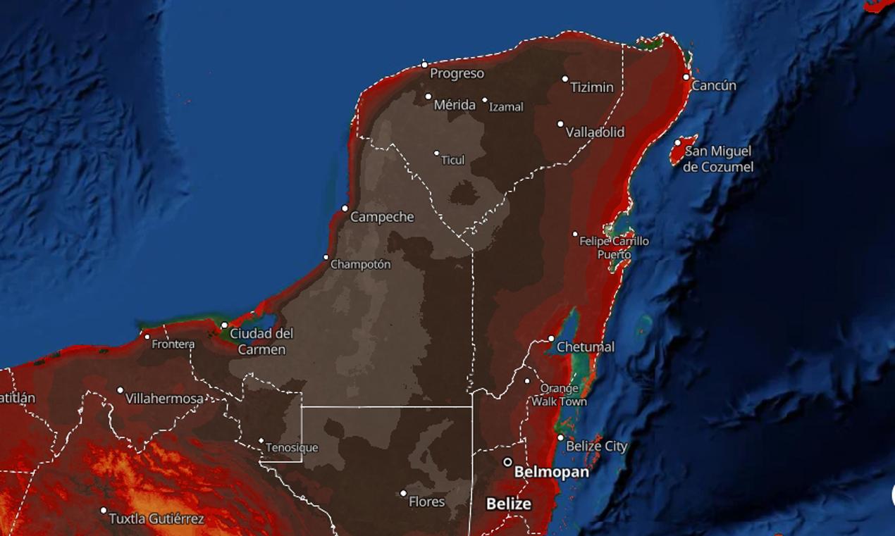 Temperaturas de hasta 45 grados con sensación térmica de 50 se resentirán en Quintana Roo durante la presente semana – Río Revuelto Noticias