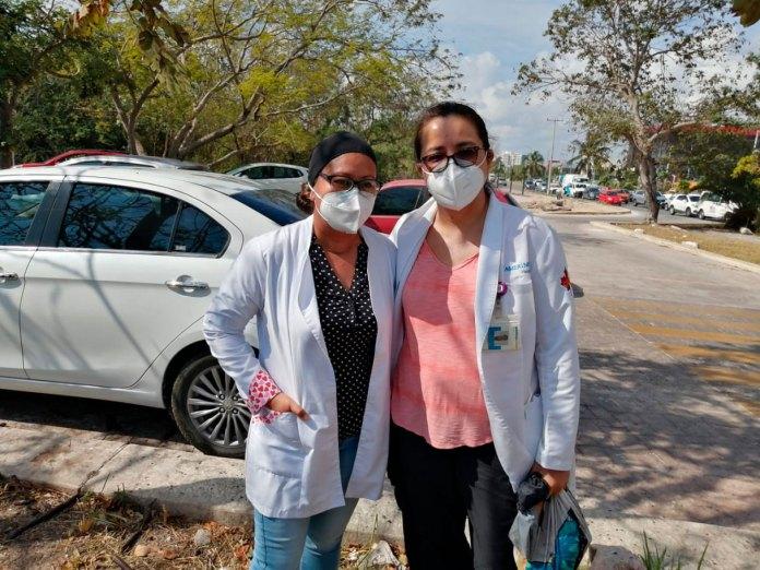 Tuvo escasa afluencia la protesta de médicos en Cancún