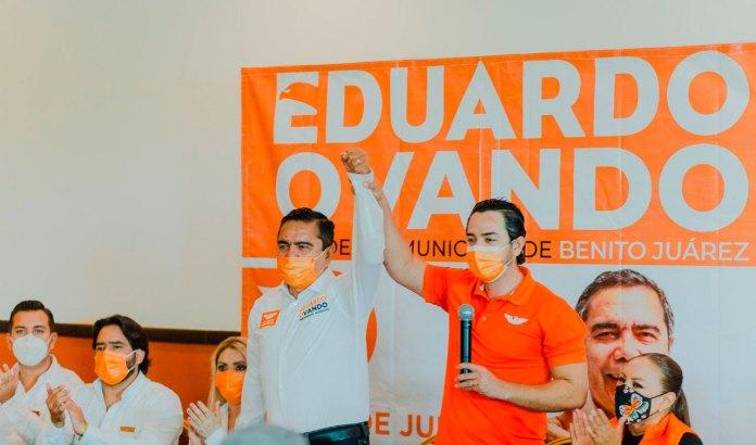Ofrece Eduardo Ovando una vida pacífica para Cancún