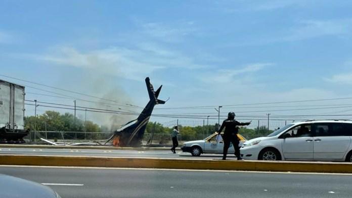Cae helicóptero cerca del Aeropuerto del Norte