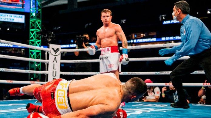 Peligra la pelea entre Canelo y Saunders