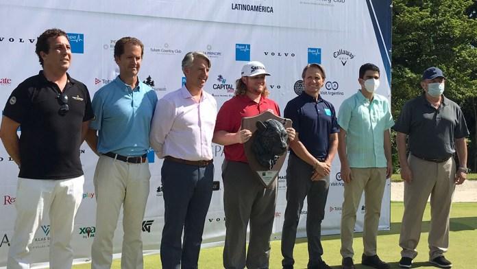 Triunfa Newcomb en final de PGA Tour Latinoamérica