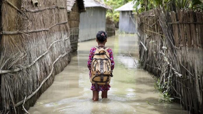 Está niñez en riesgo por cambio climático