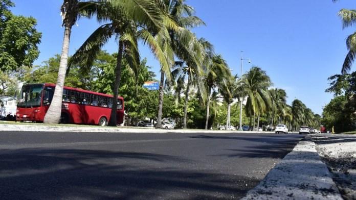 Reporta Fonatur 30% de avance en repavimentación de Zona Hotelera