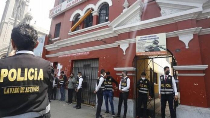 Allanan oficinas de Perú Libre