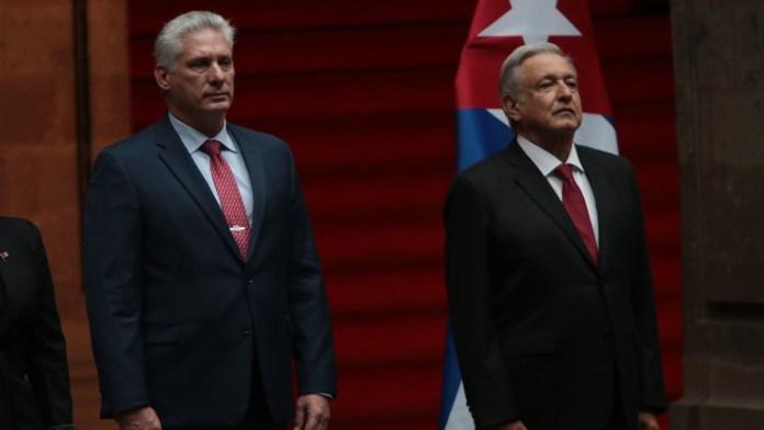 Viene a fiesta patria presidente de Cuba