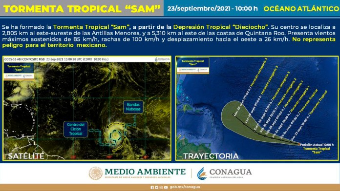 Vigilan Tormenta Tropical Sam