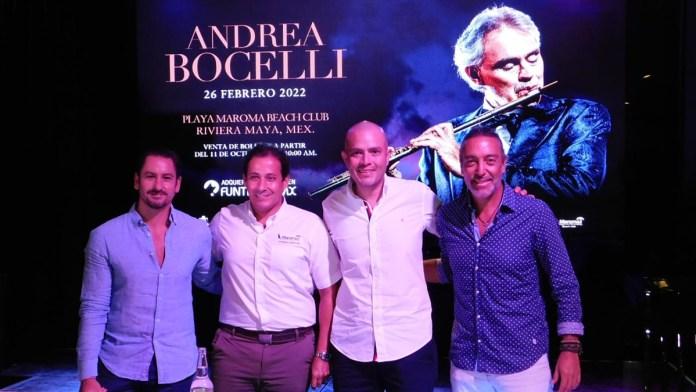 Llega Andrea Bocelli en febrero