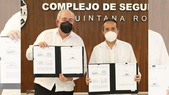Firma Quintana Roo convenio con SESNSP