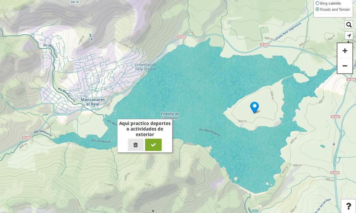 Tu mapa de la Sierra de Guadarrama