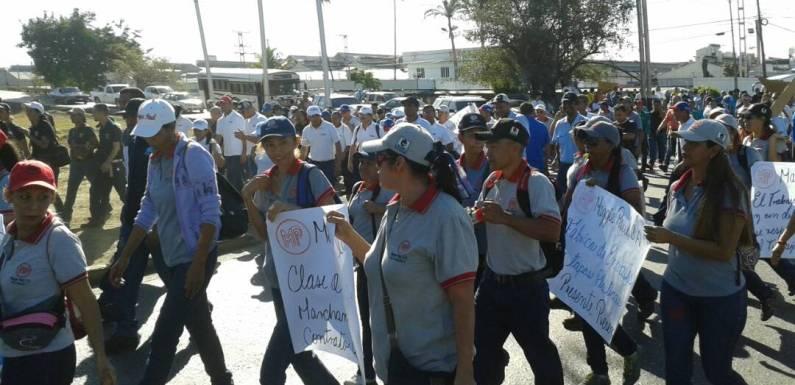 Jornadas de lucha de la clase trabajadora en Lara y Carabobo