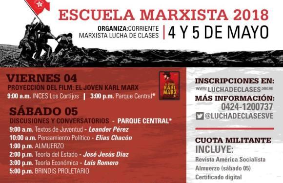 ¡Este viernes comienza la Escuela Marxista de Lucha de Clases!