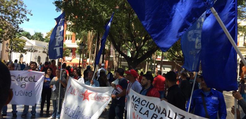 Concentración Antiimperialista: Construyamos una alternativa revolucionaria y exijamos medidas contundentes para parar el golpe de estado [+FOTOS]