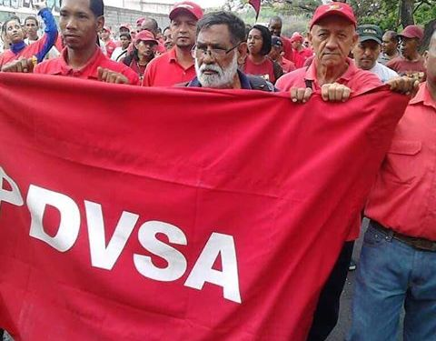 Trabajadores de PDVSA Planta Guatire marchan contra la amenaza imperialista y contra el burocratismo y la indolencia dentro de PDVSA