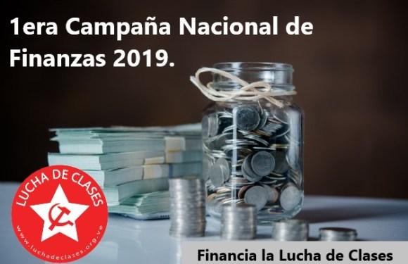 Campaña de Finanzas: Escuela de Cuadros Nacional