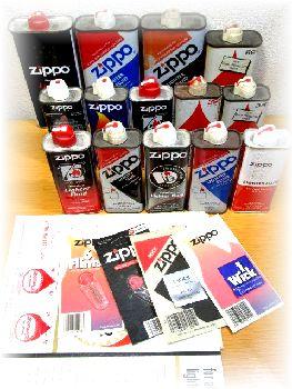 Zippoジッポーのオイル缶、ウィック、フリント