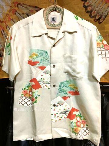 京都 丸十 絹 シルク アロハシャツ