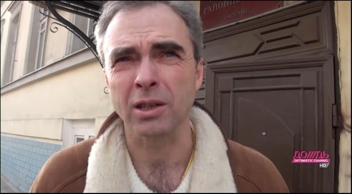 Russian language practice from the contemporary Russian media. Father of arrested protester.