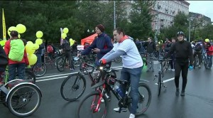 Moscow bicycle parade