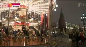New Year celebration carousel by Kremlin
