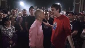 rap battle Гнойный and Oxxxymiron