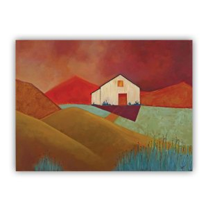 Little White Barn on the Hill Lucia Antonelli