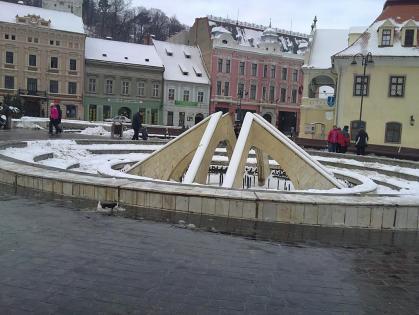 Fountaine de Sfatului Square, Brasov, Romania