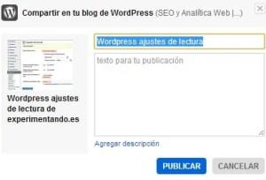 Cómo conectar Flickr con WordPress: Describe tu imagen, esta información aparecerá bajo la imagen en el post.