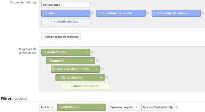 Tráfico desde Redes Sociales en Google Analytics