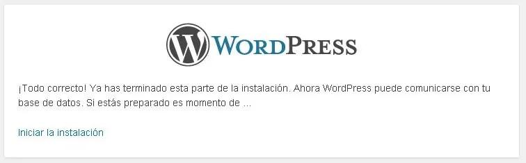 Cómo instalar WordPress paso a paso: Una vez está listo el acceso a la base de datos ya queda poco