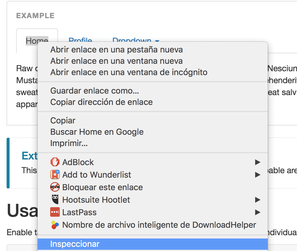 Inspeccionar Elemento Tag Manager CSS Selector