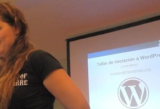 Charla de introducción a WordPress por Lucía Marín