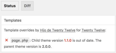 Plugin Child Theme Check