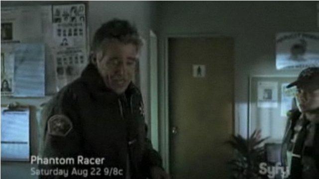 Luciana in the Phantom Racer trailer