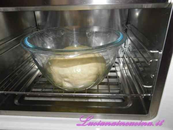 Che andremo a riporre in una boulle coperta da pellicola per alimenti.