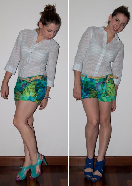 Como misturar estampas mix de padronagens short estampado colcci camisa trabalho luciana levy luta do dia blog levitando