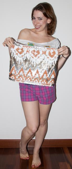 look balada, como usar saia de paete e estampa étnica. Blog de moda