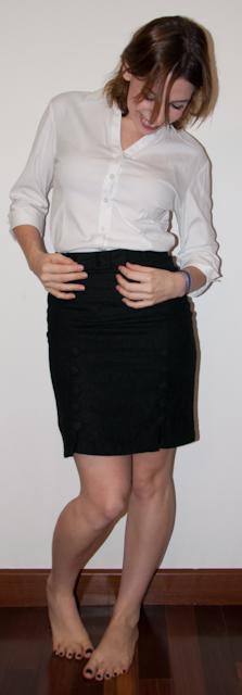 look do dia: como usar argyle com saia lápis e blusa de botão - blog de moda