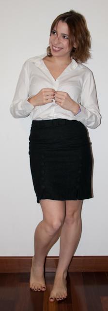 look do dia: como usar argyle com saia lápis e blusa de botão - estampa xadrez de lozango - blog de moda